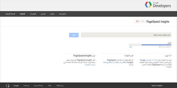 جوجل لقياس سرعة تحميل الموقع - Google Page Speed Online