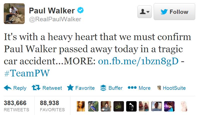 """خبر وفاة الممثل الشاب """"بول والكر"""" بطل سلسلة افلام """"fast & furious"""""""