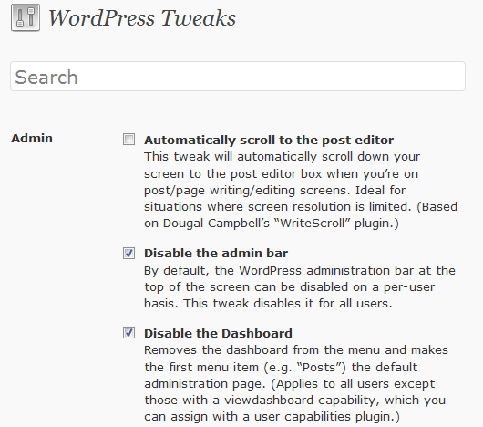 wordpress-tweaks